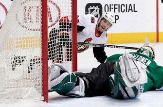 Karlsson scores in overtime, Senators beat Stars 3-2
