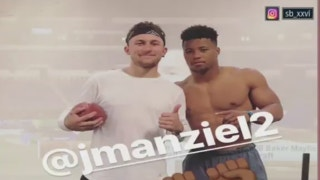 Jason Whitlock reacts to Johnny Manziel and Saquon Barkley working out together