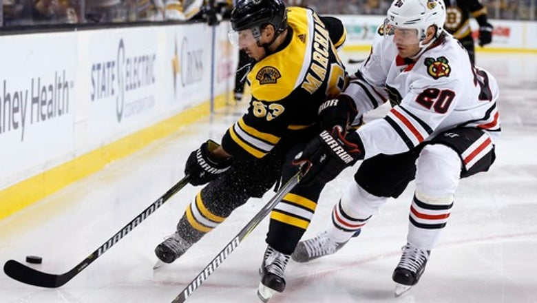 Marchand out with upper-body injury against Blackhawks