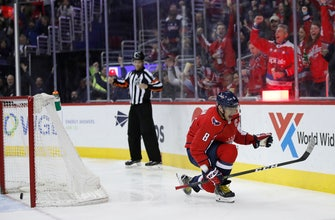Ovechkin reaches 600 goals, Capitals beat Jets in overtime (Mar 12, 2018)
