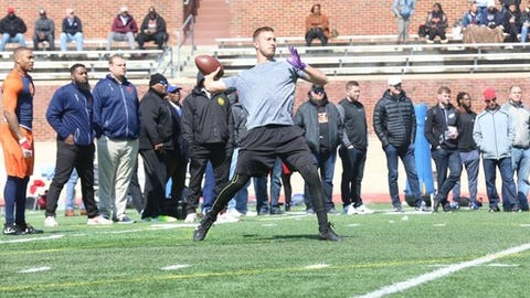 """<p>(STATS) - If a cold-weather NFL team selects former Richmond quarterback Kyle Lauletta in the draft next month, it will have good reference from the Spiders' pro day on Tuesday.</p><p>Lauletta and other Spiders attracted representatives from 27 NFL teams to Robins Stadium, performing in whipping winds and near-freezing temperatures. The 2017 CAA Football offensive player of the year made more than 60 throws to a group of wide receivers, tight ends and running backs.</p><p>""""I think everything went smooth. It's a windy day. It's a little bit cold, so not the best of conditions,"""" Lauletta said. """"But I just came out here and had fun and threw the ball around and I thought I did an OK job. I thought everything was pretty solid. The rest is not in my hands, so I'm just going to keep preparing, keep working out and doing everything I've got to do on my end and let the rest take care of itself.""""</p><p>The 6-foot-2 5/8, 222-pound Lauletta - Richmond's all-time passing leader - was named the MVP of the Reese's Senior Bowl in January and tested favorably at the recent NFL scouting combine. His strong postseason has likely solidified a third- or fourth-round selection, which would make him the highest-drafted Spider in decades.</p><p>The draft will be held from April 26-28 at AT&T Stadium in Arlington, Texas.</p>"""