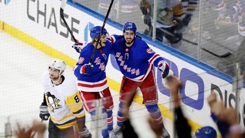 Zibanejad's late 2 goals rally Rangers past Penguins in OT