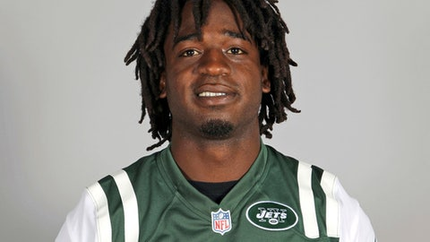 FILE - This 2013 file photo shows New York Jets running back Joe McKnight. The man convicted of manslaughter in the 2016 road-rage shooting death of former NFL running back McKnight faces sentencing in Louisiana. Fifty-six-year-old Ronald Gasser could get up to 40 years in prison when court convenes Thursday, March 15, 2018, in suburban New Orleans. (AP Photo/File)