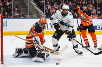 Hertl scores 2nd of game in OT as Sharks beat Oilers 4-3