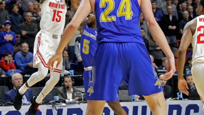 Ohio State outlasts South Dakota State 81-73 in West Region