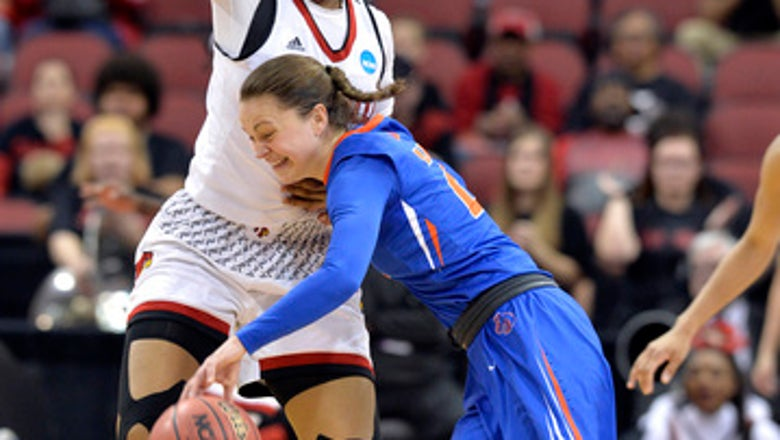 Top-seeded Louisville rolls past Boise State 74-42 in NCAAs