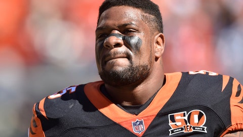 FILE - In this Oct. 1, 2017, file photo, Cincinnati Bengals outside linebacker Vontaze Burfict walks on the field before an NFL football game against the Cleveland Browns in Cleveland. Burfict is appealing a four-game suspension from the NFL for violating its policy on performance-enhancing substances, the third straight season that hes facing punishment from the league. (AP Photo/David Richard, File)