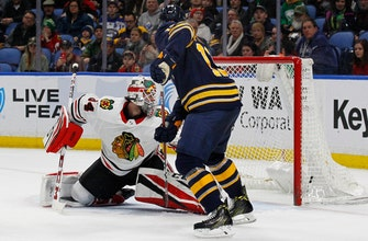 Baptiste lifts Sabres to 5-3 win over Blackhawks