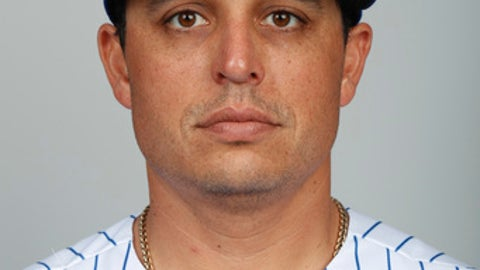 This is a 2018 photo of Jason Vargas of the New York Mets baseball team. This image reflects the Mets active roster as of Feb. 21, 2018 when this image was taken. (AP Photo/Jeff Roberson)