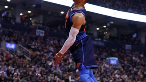 Jayson Tatum throws down tomahawk slam in Celtics vs. Thunder