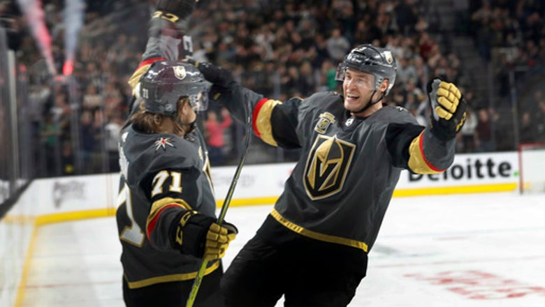 Karlsson's hat trick helps Vegas beat Flames 4-0
