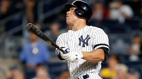 Yankees' Judge auditions as leadoff man against Red Sox