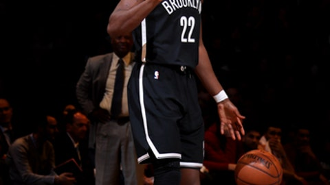 BROOKLYN, NY - MARCH 25:  Caris LeVert #22 of the Brooklyn Nets handles the ball against the Cleveland Cavaliers on March 25, 2018 at Barclays Center in Brooklyn, New York. (Photo by Nathaniel S. Butler/NBAE via Getty Images)