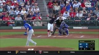 WATCH: Indians hit trio of early home runs