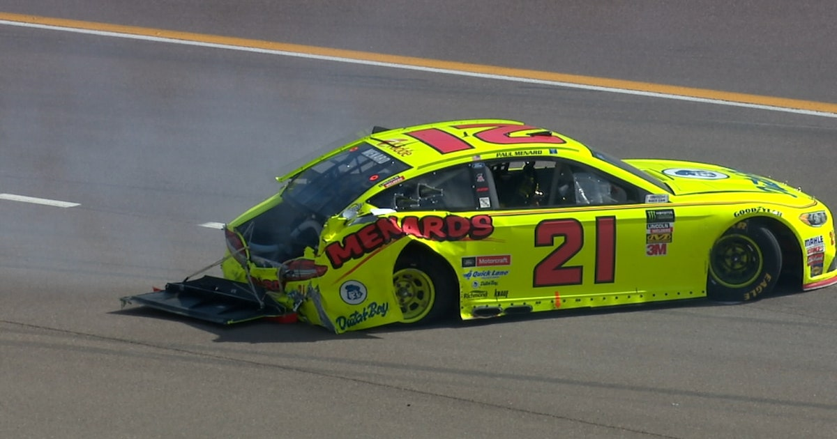 Paul Menard Crashes Out At Phoenix 2018 Ism Raceway