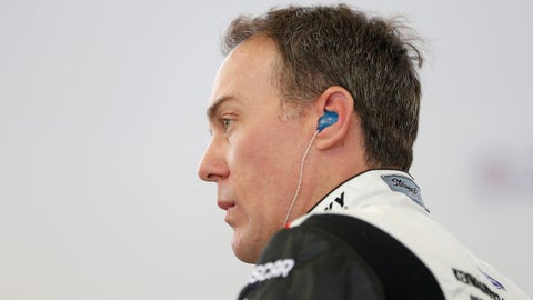 LAS VEGAS, NV - MARCH 03:  Kevin Harvick, driver of the #4 Jimmy John's Ford, stands in the garage during practice for the Monster Energy NASCAR Cup Series Pennzoil 400 presented by Jiffy Lube at Las Vegas Motor Speedway on March 3, 2018 in Las Vegas, Nevada.  (Photo by Brian Lawdermilk/Getty Images)