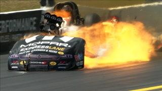 Matt Hagan & Robert Hight suffer massive explosions at the same time | 2018 NHRA DRAG RACING