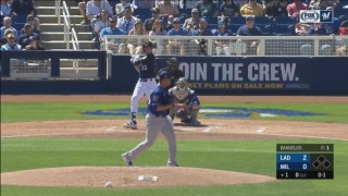 WATCH: Yelich, Braun appear to be in midseason form