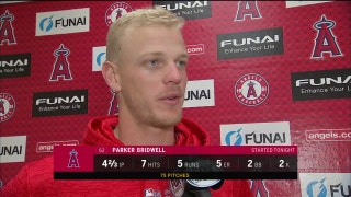 Not the best day for Angels' Parker Bridwell