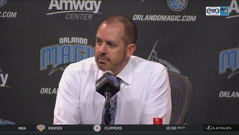 Frank Vogel reacts to ending the losing streak with a win over Detroit