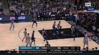 WATCH: Rudy Gay with the transition dunk in 4th vs. T-Wolves