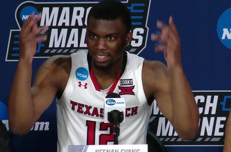 Images of Texas Tech coach energizes Dallas crowd in win to advance to Sweet 16