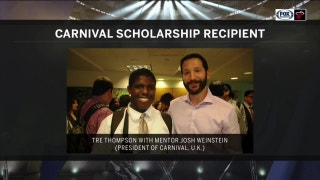 Tre Thompson surprises former mentor Josh Weinstein about receiving Carnival Scholarship