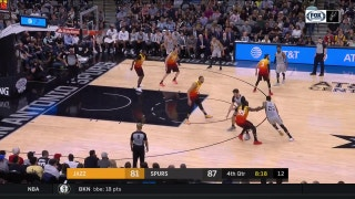 WATCH: Rudy Gay Drops the hammer in the 4th vs. Jazz | Jazz at Spurs