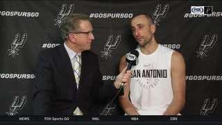 Manu Ginobili on both teams fighting, Spurs getting the win in overtime