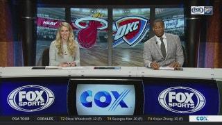 OKC hangs on to beat Miami 105-99 | Thunder Live
