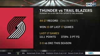 Portland Trail Blazers at OKC Thunder preview | Thunder Live