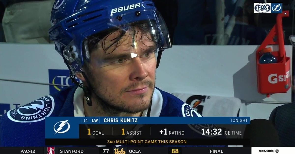 chris kunitz liked lightning s energy to start thursday s win fox