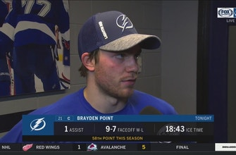 Brayden Point on containing Connor McDavid: 'I thought we did a pretty good job tonight'