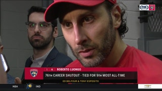 Panthers goalie Roberto Luongo on his 76th career shutout