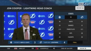 Jon Cooper emphasizes the good play in the 3rd period
