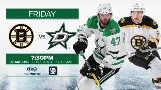 Boston Bruins at Dallas Stars preview | Stars Live