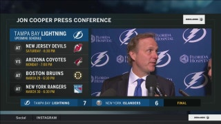 Jon Cooper on Lightning's win, not pulling Vasilevskiy