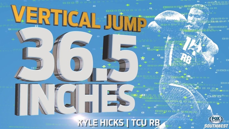 TCU RB Kyle Hicks at the NFL Scouting Combine