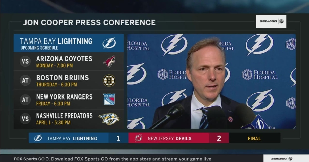 Jon Cooper says Lightning had their chances but just couldn't score