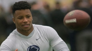 Colin Cowherd believes that analysts are overhyping Penn State running back Saquon Barkley