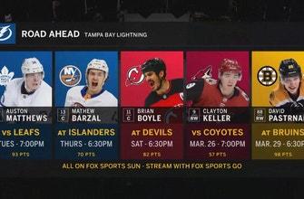 Lightning finish homestand against streaking Maple Leafs