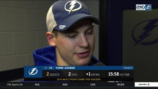 Yanni Gourde on how Lightning turned things around Tuesday