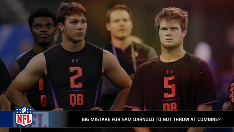 Was it a big mistake for Sam Darnold to not throw at the combine?