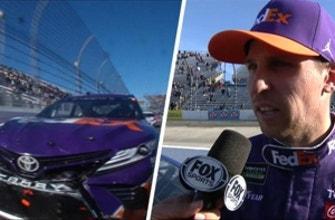 Denny Hamlin on 'classy' brake checks from Kevin Harvick | 2018 MARTINSVILLE | FOX NASCAR