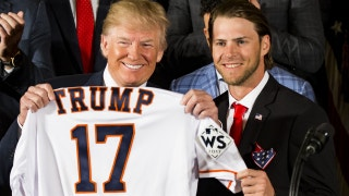 Houston Astros visit President Trump at the White House
