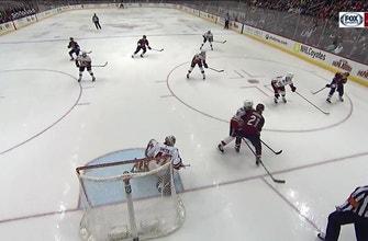 Keller makes ridiculous  no-look pass to set up Panik goal