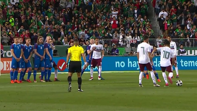 Marco Fabian curls in a nice goal for Mexico vs. Iceland | 2018 International Friendly Highlights