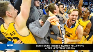UMBC's Twitter following grew by over 100,000 with its win over Virginia