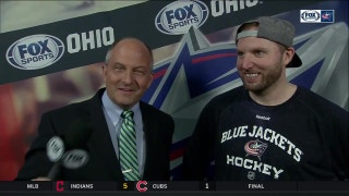Thomas Vanek enjoying the ride with Columbus