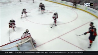 WATCH: No-look pass from Ryan Getzlaf sets up Brandon Montour goal
